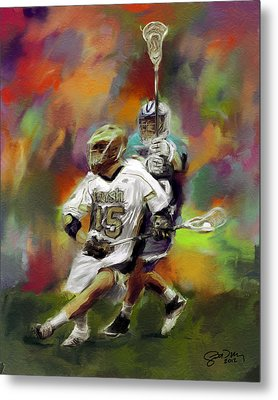 College Lacrosse 13 Metal Print by Scott Melby