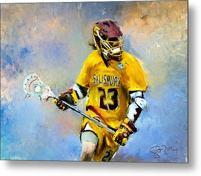 College Lacrosse 9 Metal Print by Scott Melby