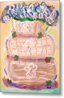Color In A Wedding Cake Metal Print by Mary Carol Williams