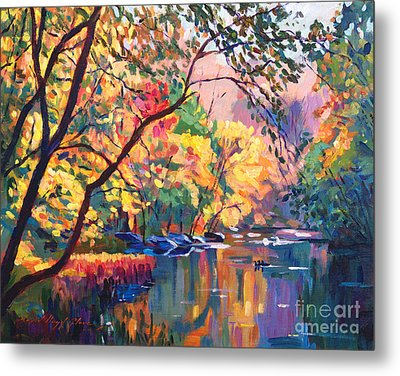 Color Reflections Plein Aire Metal Print by David Lloyd Glover
