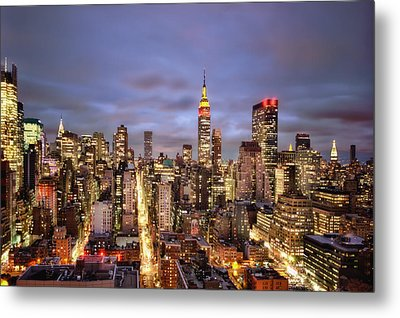 Colors Of The Night Metal Print by Evelina Kremsdorf