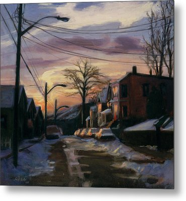 Corson Avenue - February Metal Print by Sarah Yuster