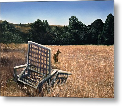Coyote And Rabbit Metal Print by Lance Anderson