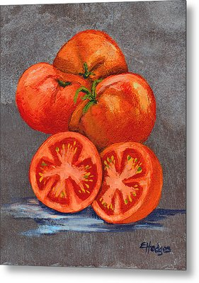 Creole Tomatoes Metal Print by Elaine Hodges