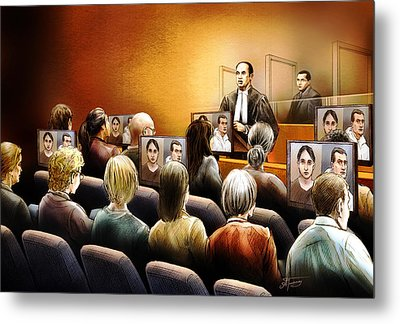 Crown Kevin Gowdey Delivers Opening Address At The Rafferty Trial Metal Print by Alex Tavshunsky