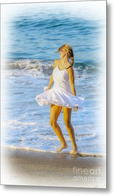 Dancing With The Waves Metal Print by Randy Steele