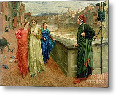 Dante And Beatrice Metal Print by Henry Holiday