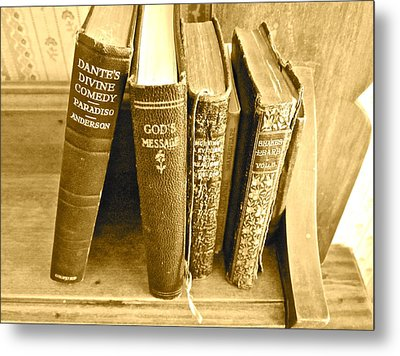 Dante God And Shakespeare ... Metal Print by Gwyn Newcombe