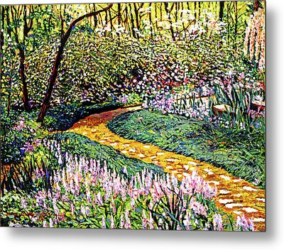 Deep Forest Garden Metal Print by David Lloyd Glover
