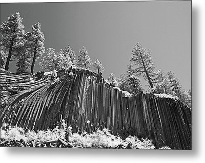 Devil's Postpile - Frozen Columns Of Lava Metal Print by Christine Till