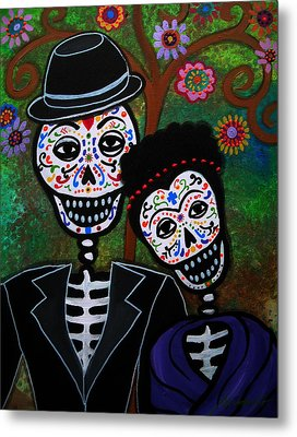 Diego Rivera And Frida Kahlo Metal Print by Pristine Cartera Turkus