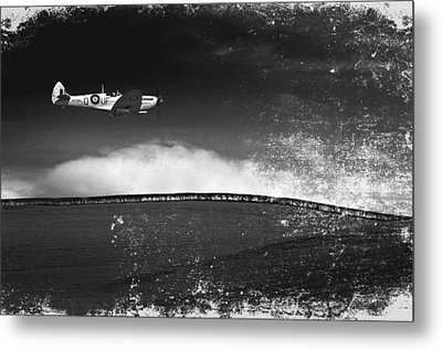Distressed Spitfire Metal Print by Meirion Matthias