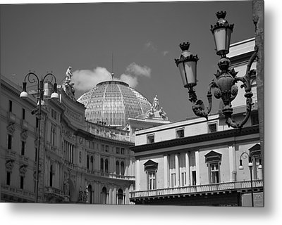 Dome Of Galleria Umberto 1 Metal Print by Terence Davis