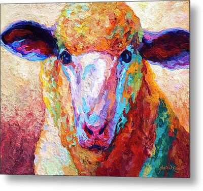 Dorset Ewe Metal Print by Marion Rose