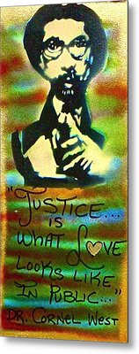 Dr. Cornel West Justice Metal Print by Tony B Conscious