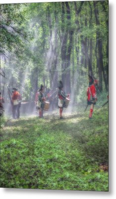 Drums In The Forest Before The Battle Metal Print by Randy Steele