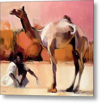 dsu and Said - Rann of Kutch  Metal Print by Mark Adlington