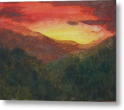 Dusk Over Smokey Metal Print by Trilby Cole