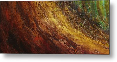 Earth A Metal Print by Pure Abstract