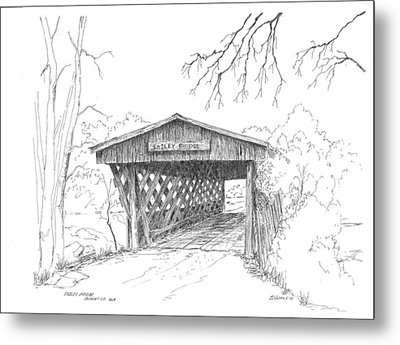 Easley Bridge Metal Print by Barney Hedrick