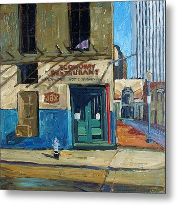 Economy Restaurant Metal Print by Dale Knaak