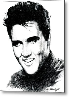 Elvis Metal Print by Lin Petershagen