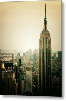 Empire State Building New York Cityscape Metal Print by Vivienne Gucwa