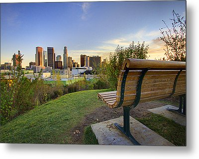 Empty Bench Metal Print by Kenny Hung Photography