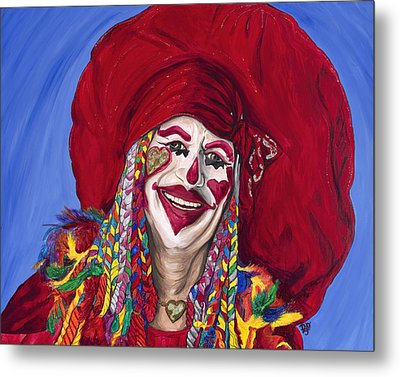 Eureka Springs Clown Metal Print by Patty Vicknair