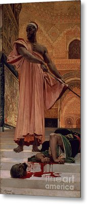 Execution Without Trial Under The Moorish Kings In Granada Metal Print by Henri Alexandre Georges Regnault