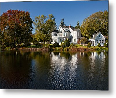 Fall On Argyle Lake In Babylon Village Metal Print by Vicki Jauron