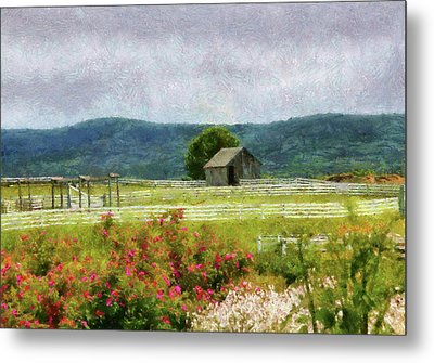 Farm - Barn - Out In The Country  Metal Print by Mike Savad