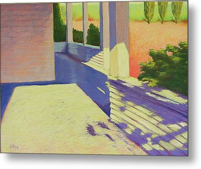 Farmhouse Porch Metal Print by Mary McInnis