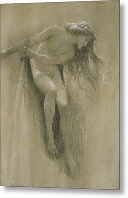 Female Nude Study  Metal Print by John Robert Dicksee