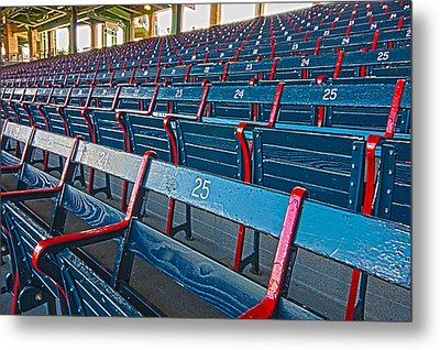 Fenway Bleachers Metal Print by Michael Yeager