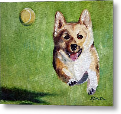 Fetch Metal Print by Mary Sparrow