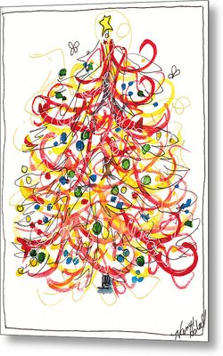 Fiesta Christmas Tree Metal Print by Michele Hollister - for Nancy Asbell