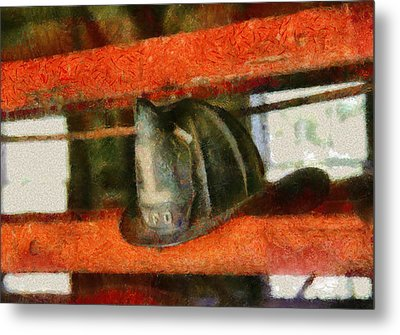 Fireman - Chief Hat Metal Print by Mike Savad