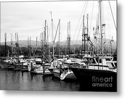 Fishing Boats . 7d8208 Metal Print by Wingsdomain Art and Photography