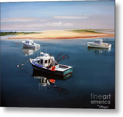 Fishing Boats-cape Cod Metal Print by Paul Walsh