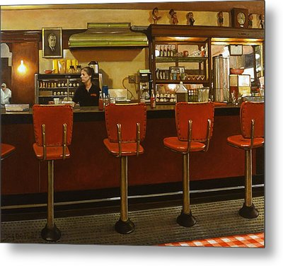 Five Past Six At The Mecca Cafe Metal Print by Doug Strickland