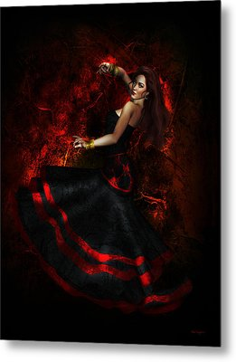 Flamenco Metal Print by Shanina Conway