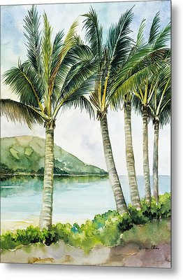 Flapping Palm Trees Metal Print by Han Choi - Printscapes