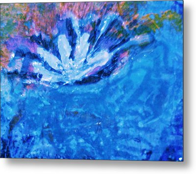 Floating Flower Metal Print by Anne-Elizabeth Whiteway