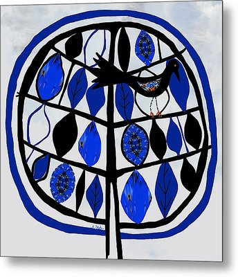 For The Love Of Trees Metal Print by Barbara Drake