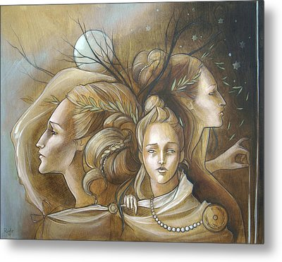 Full Moon Mysticism Metal Print by Jacque Hudson