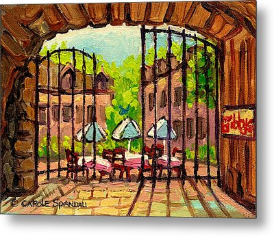Gibbys Restaurant In Old Montreal Metal Print by Carole Spandau