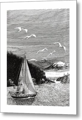 Gig Harbor Sailing School Metal Print by Jack Pumphrey