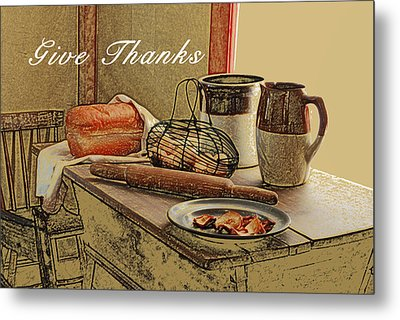 Give Thanks Metal Print by Michael Peychich