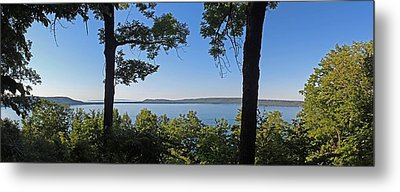Glen Lake From Inspiration Point Metal Print by Twenty Two North Photography